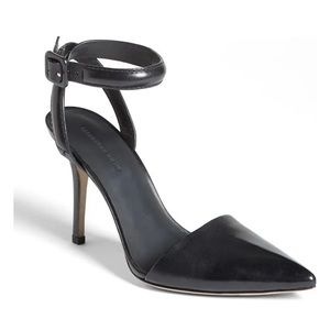 ALEXANDER WANG Lovisa Leather Ankle Strap Pump 37